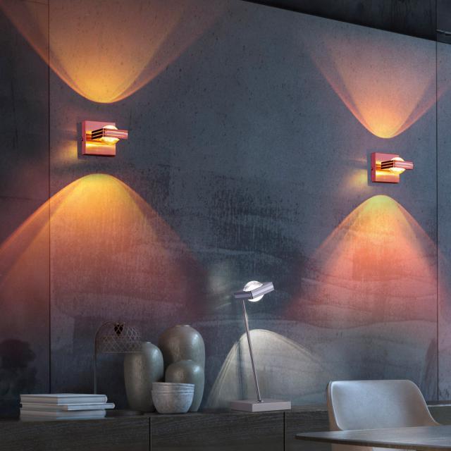 Paul Neuhaus Q-Fisheye RGBW LED wall light with dimmer