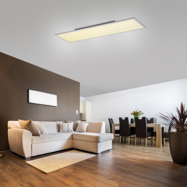 Paul Neuhaus Q-Flag CCT LED ceiling light with dimmer, rectangular