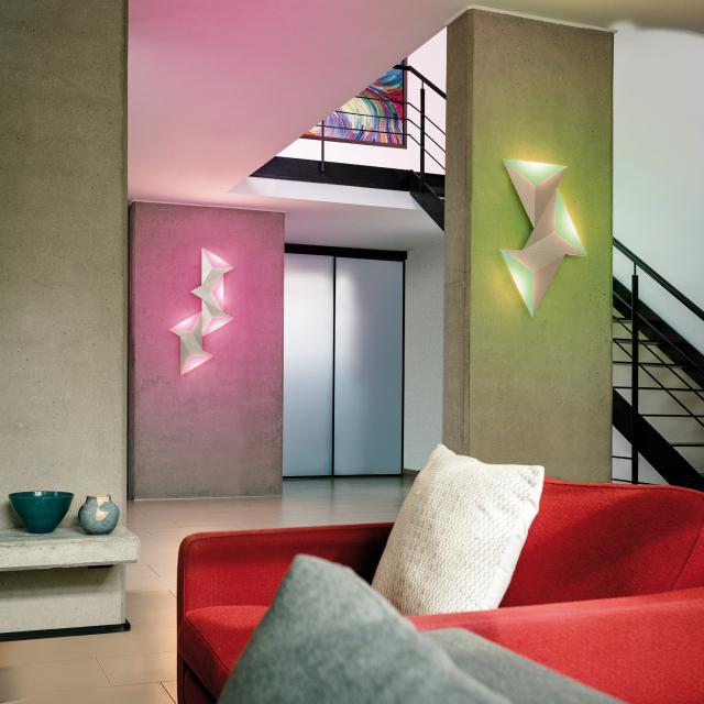 Paul Neuhaus Q-Tetra Satellite RGBW LED wall light with dimmer