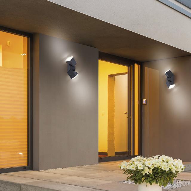 Paul Neuhaus Ryan LED wall light, double