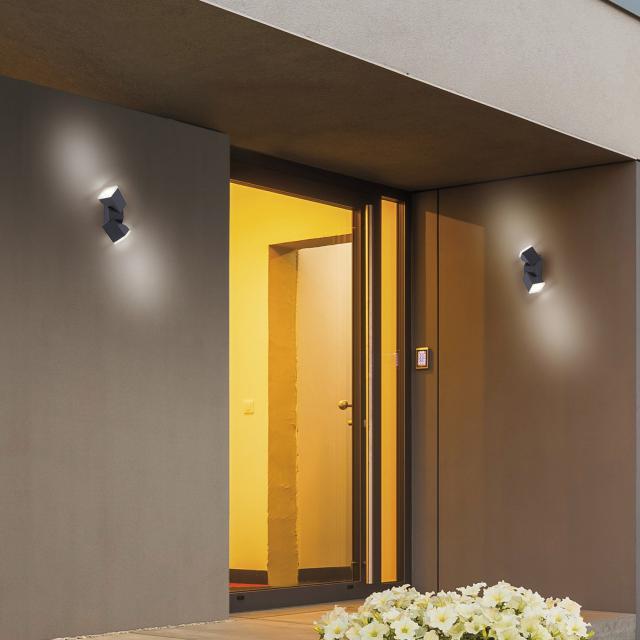 Paul Neuhaus Ryan LED wall light with motion sensor, double-headed