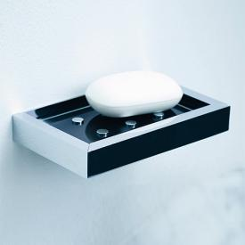 pomd'orUrban wall-mounted soap dish chrome - black glass