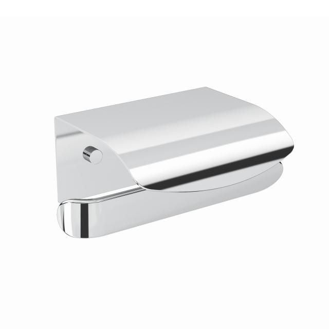 Pomd'or Belle toilet roll holder with cover left, chrome