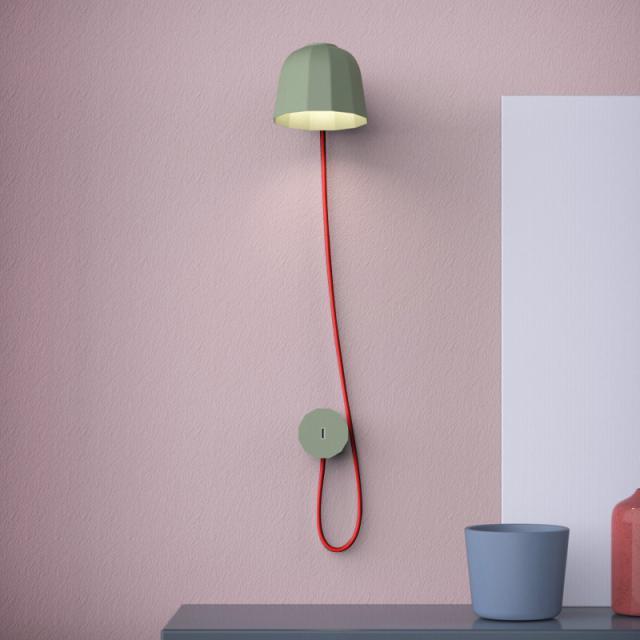 prandina Novia W1 wall light with USB connection