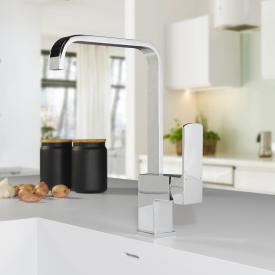 PREMIUM 100 single lever kitchen fitting, square
