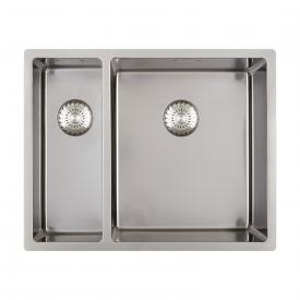 PREMIUM 300 kitchen sink with secondary bowl and seamless designer waste