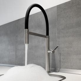 PREMIUM 300 Steel kitchen fitting, flexible spout with hose, H: 50 cm, 5 year guarantee