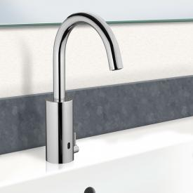 PREMIUM 500 Robinetterie de lavabo électronique, avec limiteur de température chrome, sur secteur