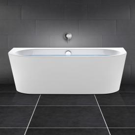 PREMIUM back-to-wall bath length: 180 cm, width: 80 cm with filling function via overflow