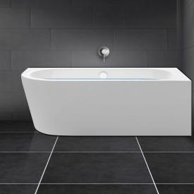 PREMIUM back-to-wall-corner bath with integrated water inlet