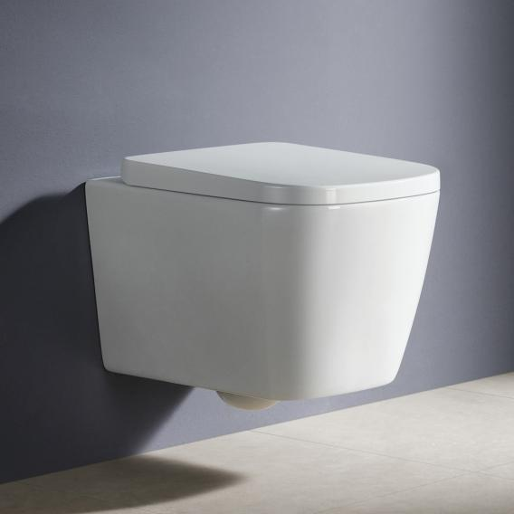 PREMIUM 100 wall-mounted washdown toilet, rimless, square