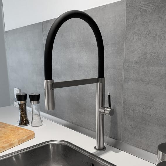 PREMIUM 300 Steel kitchen fitting, with flexible spout with hose, height 50 cm, 5 year guarantee