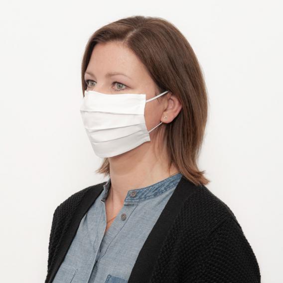 PREMIUM Masque de protection respiratoire en tissu, avec barrette nasale, 2 couches, réutilisable