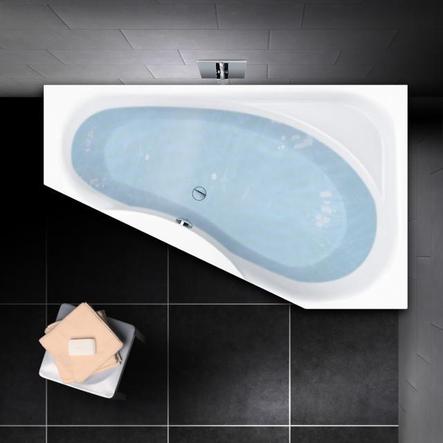 PREMIUM 100 corner bath, with shelf surface, built-in L: 165 cm, width: 95 cm, inside depth: 46 cm