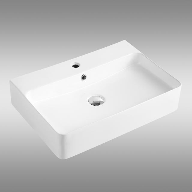 PREMIUM 100 countertop or wall-mounted washbasin W: 60 D: 42 cm