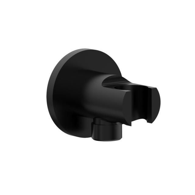 PREMIUM 100 shower hose connection with shower bracket matt black