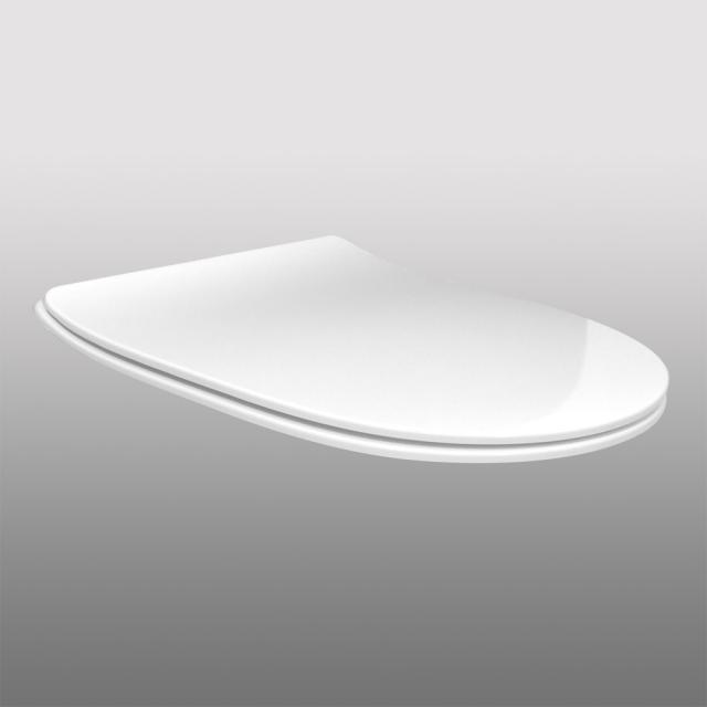 PREMIUM 100 slim oval toilet seat, removable, with soft-close