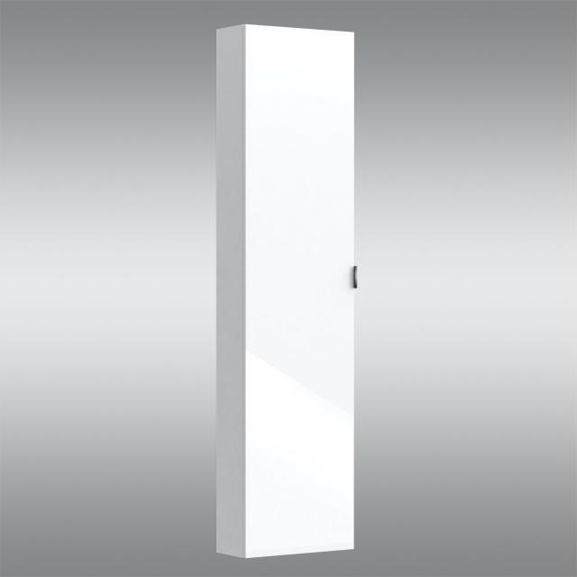 PREMIUM 100 tall unit with 1 door front white high gloss / corpus white high gloss, handle chrome