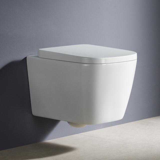 PREMIUM 100 wall-mounted washdown toilet, rimless, square