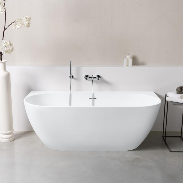 PREMIUM 200 back-to-wall bath with panelling L: 166 W: 80 H: 56.5 cm