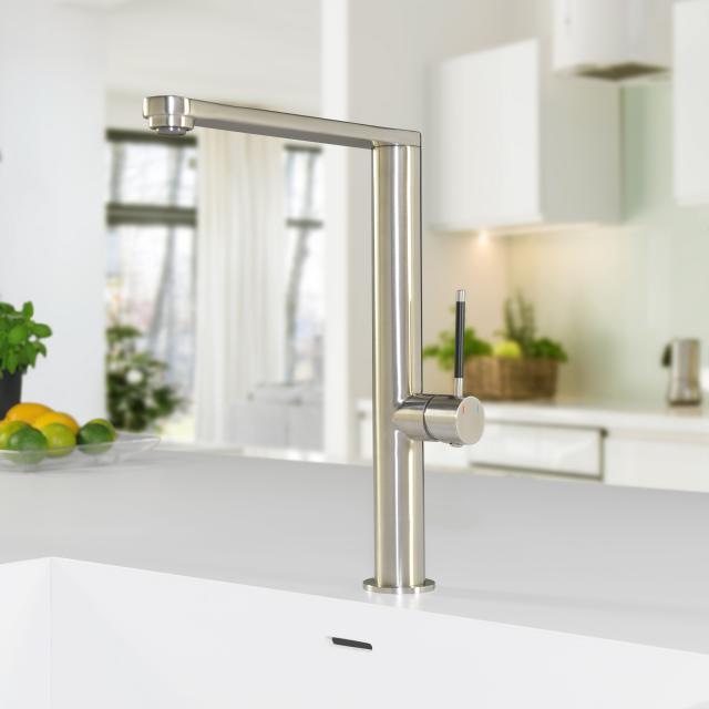 PREMIUM 300 Steel single lever kitchen fitting