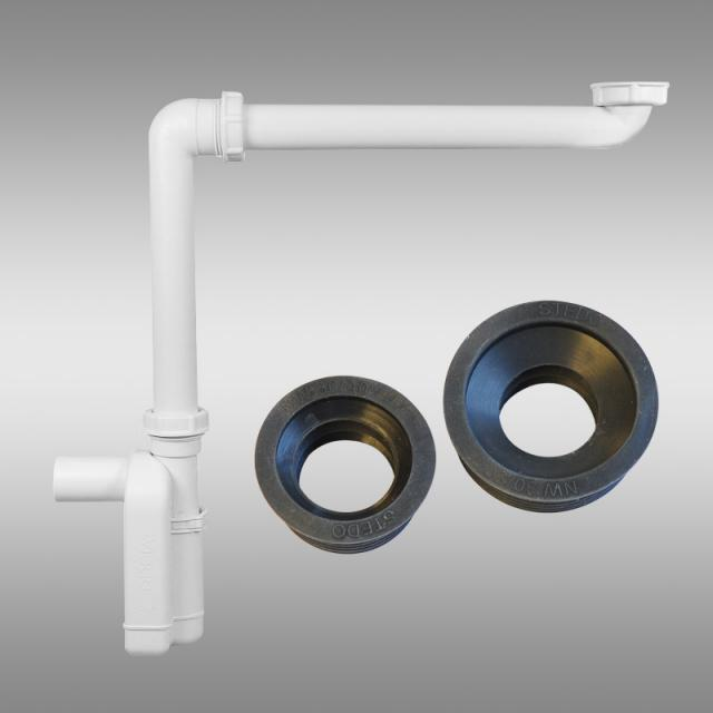 PREMIUM Universal compact siphon with siphon connection sleeves