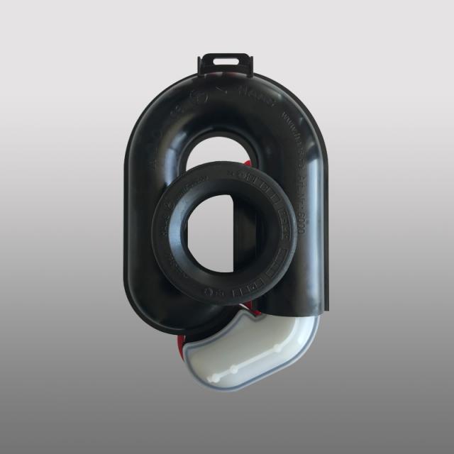 PREMIUM Universal siphonic urinal, height adjustable by 65 mm, horizontal