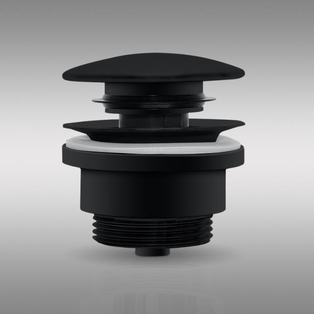 PREMIUM Universal waste valve, with accumulation function matt black