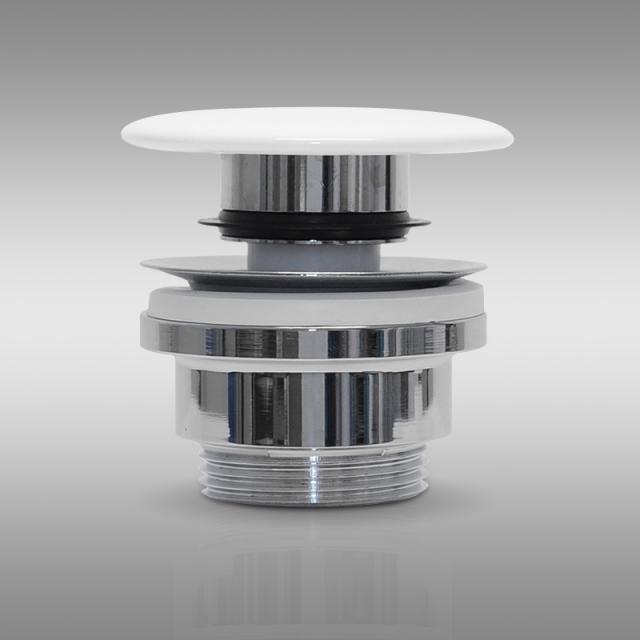PREMIUM Universal waste valve with accumulation function, with ceramic cap