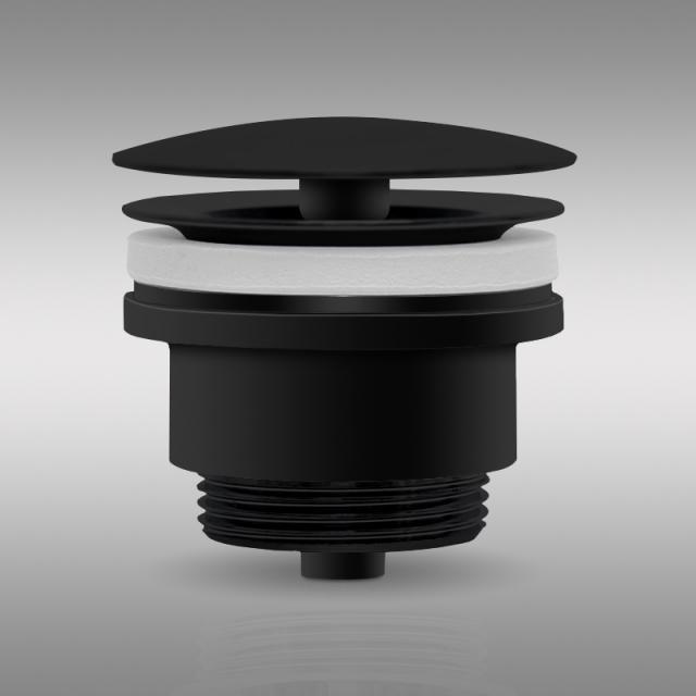 PREMIUM Universal waste valve, without accumulation function matt black