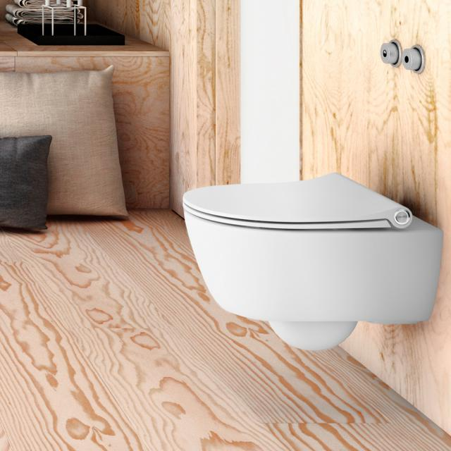 Pressalit Sway D toilet seat white, with lift-off and soft-close