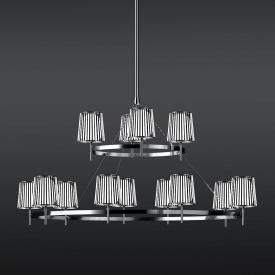 Quasar Julia pendant light 15 heads, round
