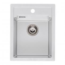Reginox Amsterdam kitchen sink with tap hole white