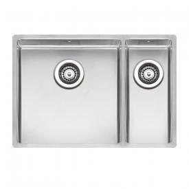 Reginox New York kitchen sink with double basin sink basin left