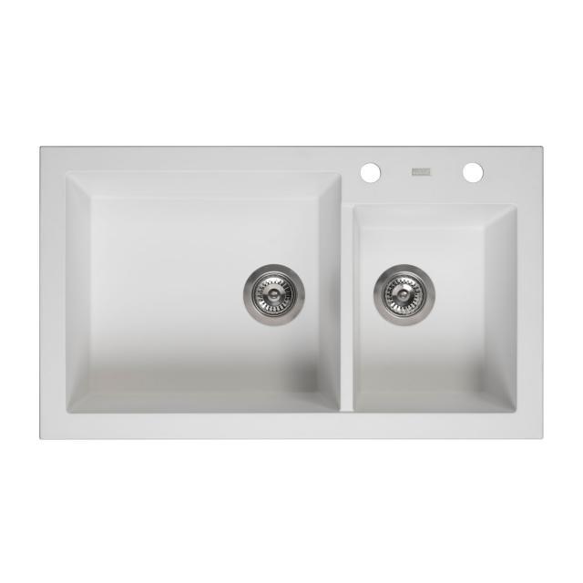 Reginox Amsterdam 25 kitchen sink with double basin white