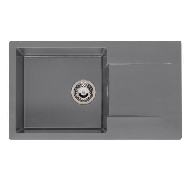 Reginox Amsterdam kitchen sink with drainer metallic grey