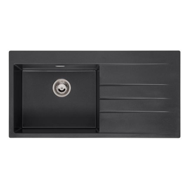 Reginox Breda kitchen sink with drainer metallic black