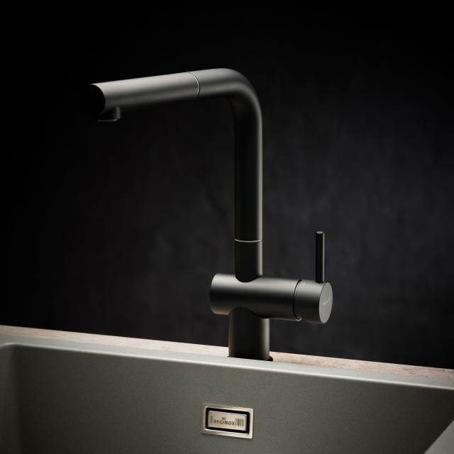 Reginox Cedar kitchen fitting with pull-out spout black