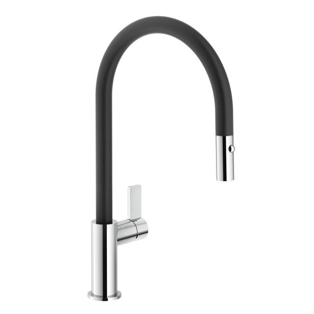 Reginox Japura kitchen fitting with pull-out spout black/chrome