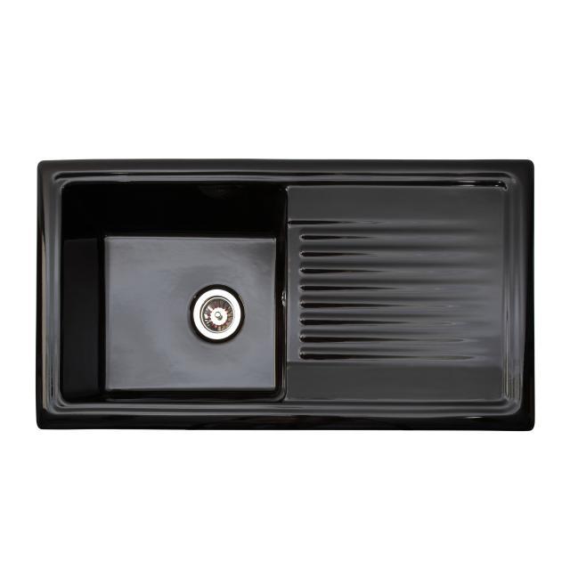 Reginox RL kitchen sink with drainer black