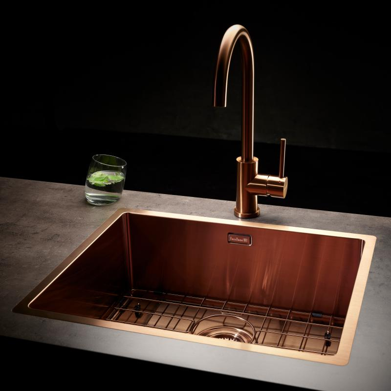 Magnificent Reginox Miami Kitchen Sink Copper R30738 Reuter Com Interior Design Ideas Apansoteloinfo