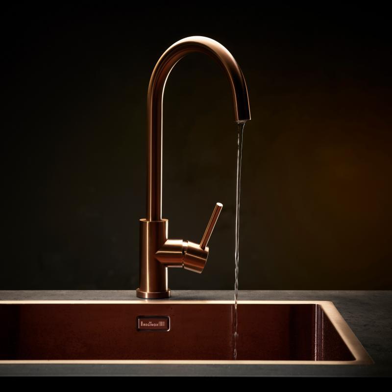 Cool Reginox Miami Kitchen Sink Copper R30738 Reuter Com Interior Design Ideas Apansoteloinfo