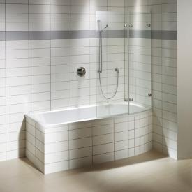 Repabad Arosa Shower rectangular bath with shower zone white