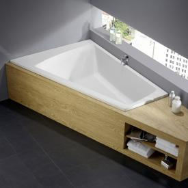 Repabad Livorno Duo bath support for trapezoidal baths white, with RepaGrip