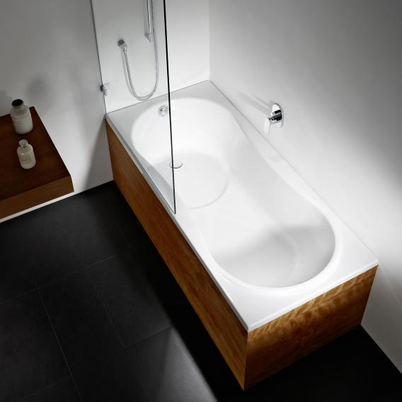 Repabad Dublin bath with shower zone white, with RepaGrip