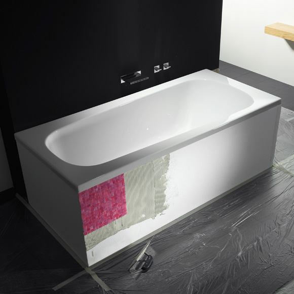 Repabad Genf bath support for trapezoidal baths