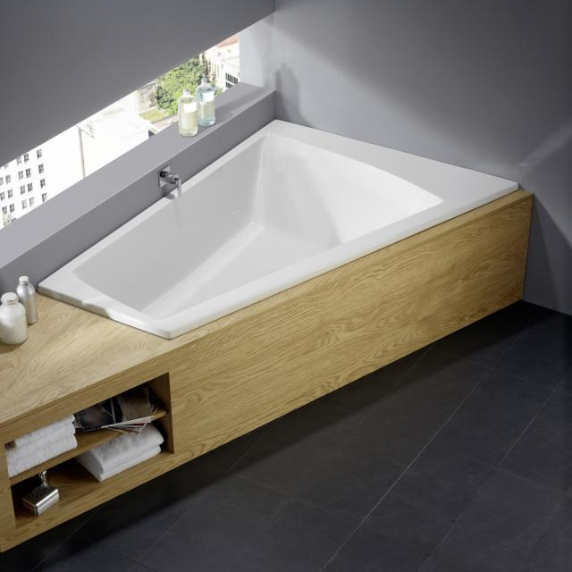 Repabad Genf corner bath, built-in white