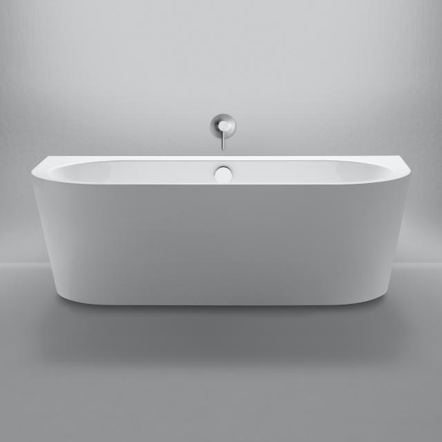 Repabad Livorno back-to-wall bath with panelling white, without filling function
