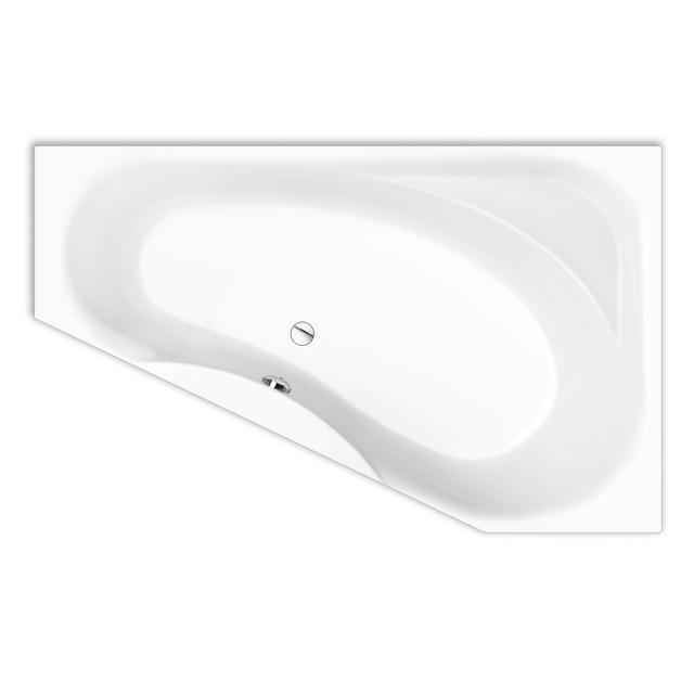 Repabad Tika corner bath with shelf, built-in white