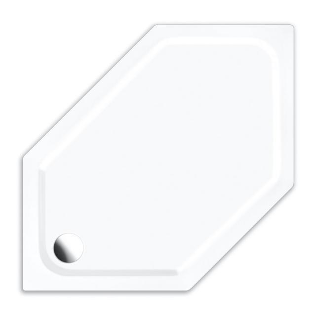 Repabad Turin S hexagonal shower tray white